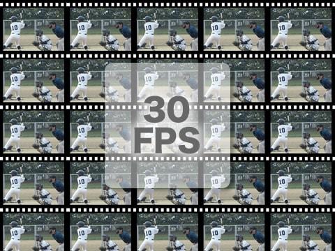 フレームレート30fps